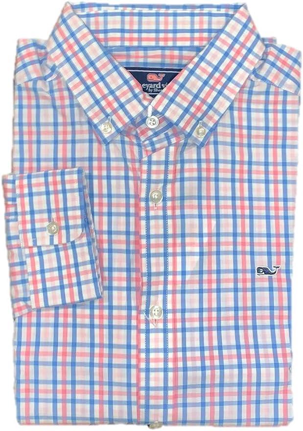 Vineyard Vines - Camisa clásica para Hombre con diseño de Ballena de Gulf Shore Gingham - Multi - Medium: Amazon.es: Ropa y accesorios