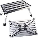 Gimify Folding RV Steps Platform Stepping Stool Sturdy Aluminum Ladder with Non-Slip Rubber 450lb Capacity for Motorhome…