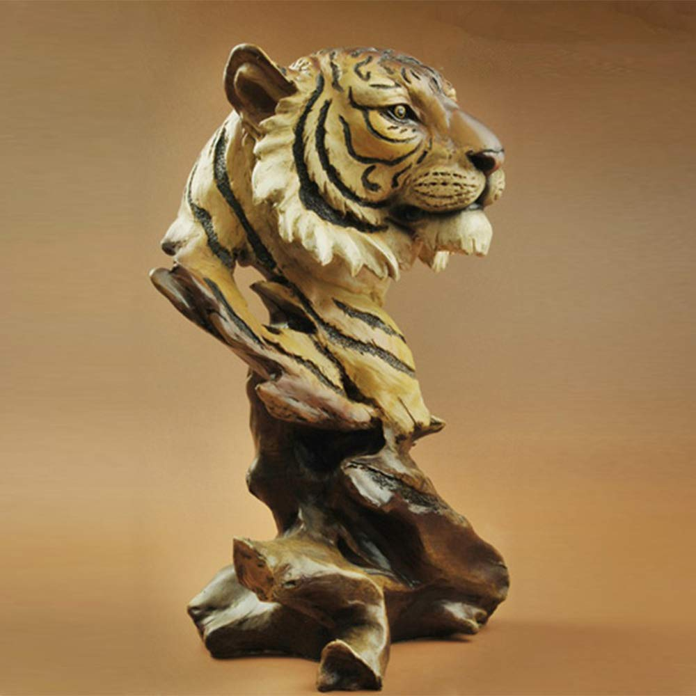 Bust Statue of Tiger,Home Decoration Wenwan Animal Sculpture