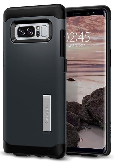 spigen Carcasa para Samsung Galaxy Note 8, diseño, Color Transparente