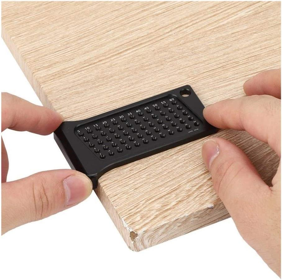 XinXinFeiEr Lightweight 5PCS Woodworking Hole Ruler Scribe Mark Line Gauge Aluminum Alloy Hand Operated Measuring Tool Scriber Tough (Color : Black) Black