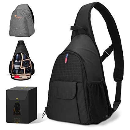 f5c2a934a8 DSLR Camera Bag Waterproof Camera Sling Backpack with Rain Cover Outdoor  Travel Backpack Camera Bag Case