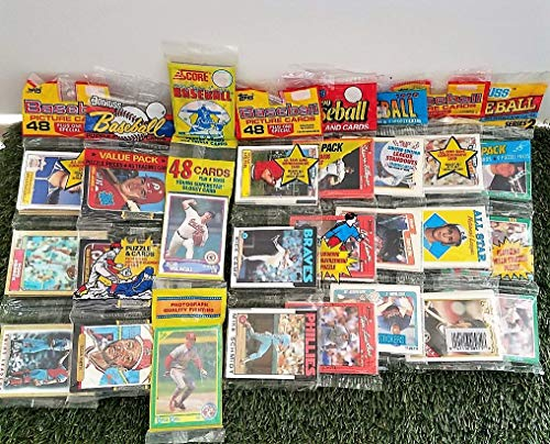 (Over 240 Vintage Baseball cards in 6 Rare Factory Sealed RAC Packs from various brands from the 80's & 90's. Guaranteed one AUTOGRAPH or MEMORABILIA card per box! Great for 1st time collectors!)