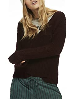 Deep V Scotch Pull Soda Femme Knit amp; Neck Top qRxvOw