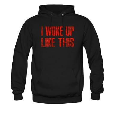 Amazon Com Wenl Women S I Woke Up Like This Hoodie Clothing