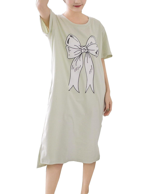 Big Girls Leisure Summer Long Nightgowns Cotton Sleepwear Homedress ...