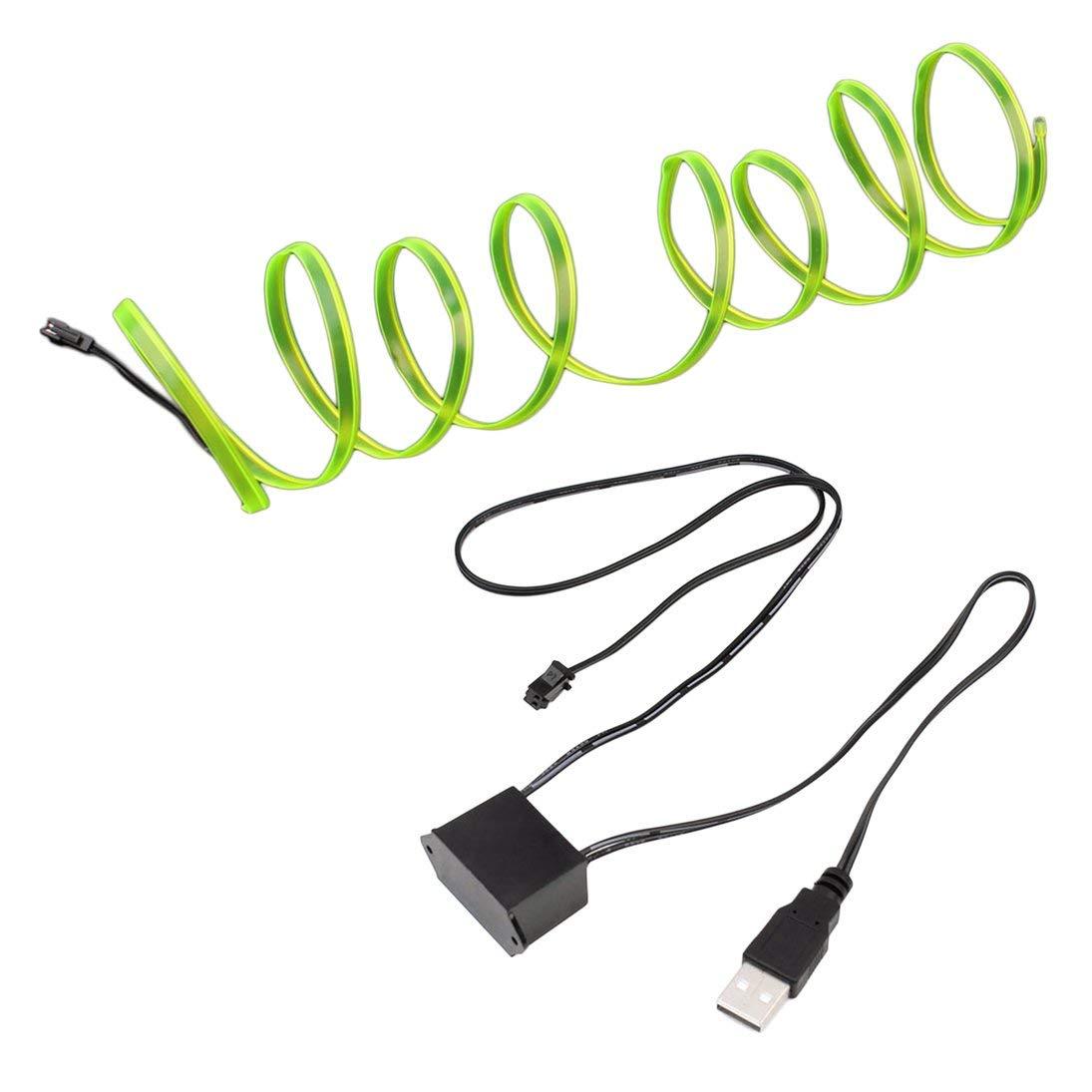 12V USB Drive Decorazione auto Car Styling Decor per feste HAHA LED EL Light Neon Rope Car Dance Glow Light Strip Controller 3V