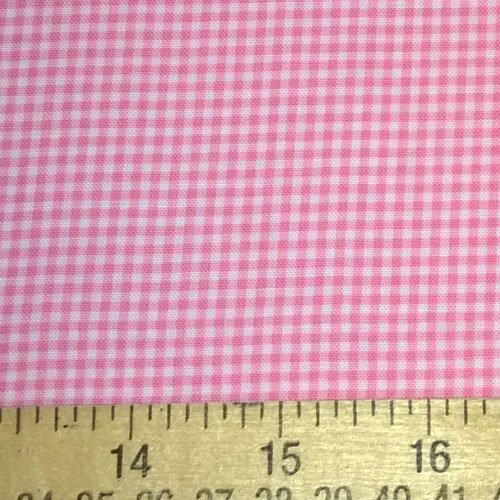 Tiny Ginghman Print Fabric Two Yards (1.8m) CX4834-PINK-D