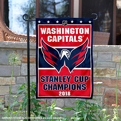 (WinCraft Washington Capitals 2018 Stanley Cup Champions Double Sided Garden)