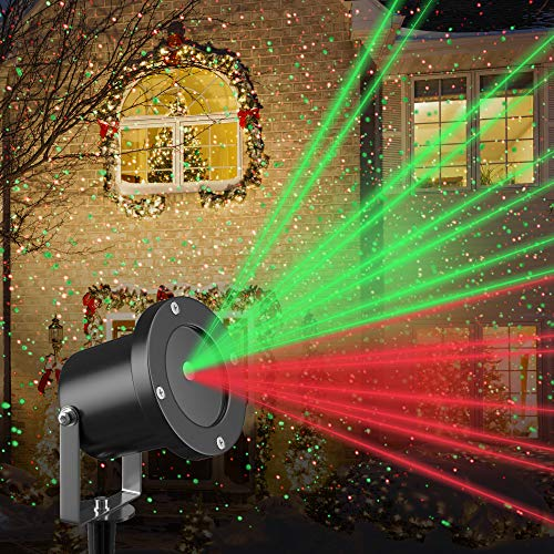 Christmas Laser Light Projector by Gideon Rotating LED Holiday Laser Projection Show Remote Control...