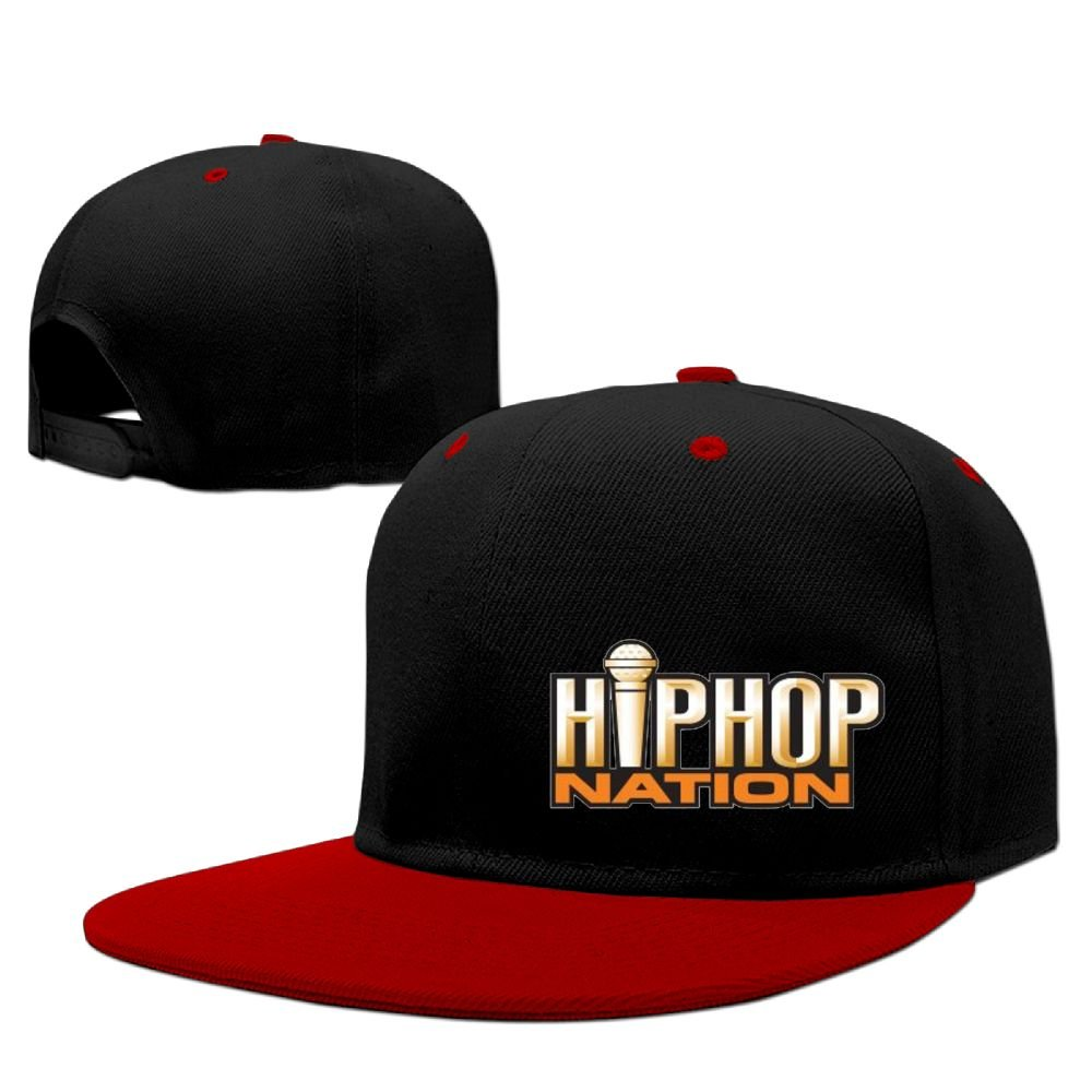 WANGZII Hip-Hop Funny Snapback Adjustable Hip-Hop Hats Personalization Baseball Caps For Men Red