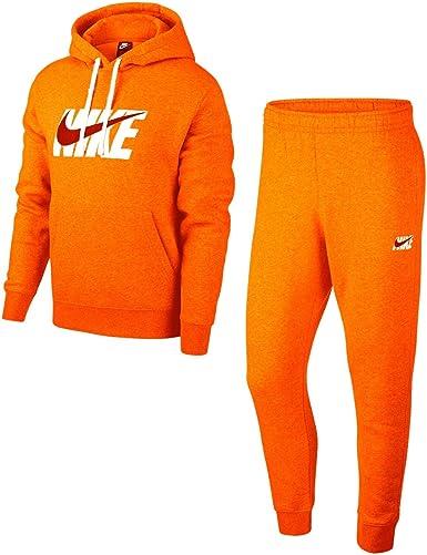 Nike Track HD Fleece GX - Chándal naranja/blanco L: Amazon.es: Ropa y accesorios