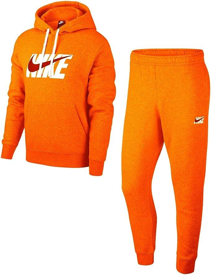 Nike Track HD Fleece GX - Chándal naranja/blanco L: Amazon.es ...