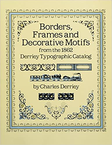 amazon borders frames and decorative motifs from the 1862 derriey