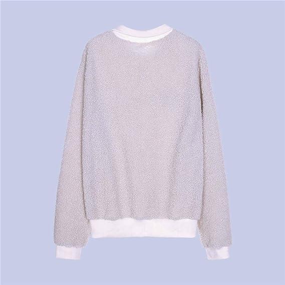 Xiuy Bonitos Bordado Jersey Casual Personalizada Sweatshirt Deportivas Cálido Sudaderas Sencillos Moda Pullover Ropa de Mujer: Amazon.es: Ropa y accesorios
