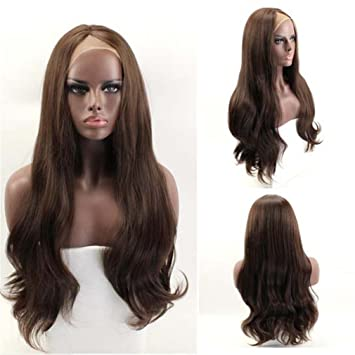Amazon Natural Womens Sexy Long Wig Hairstyle Lace Front Wavy