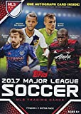 2017 Topps MLS Soccer Unopened Blaster Box of Packs with One GUARANTEED AUTOGRAPHED Card Per Box