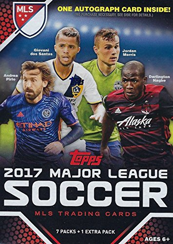 Mls Soccer Trading Cards - 2017 Topps MLS Soccer Unopened Blaster Box of Packs with One GUARANTEED AUTOGRAPHED Card Per Box