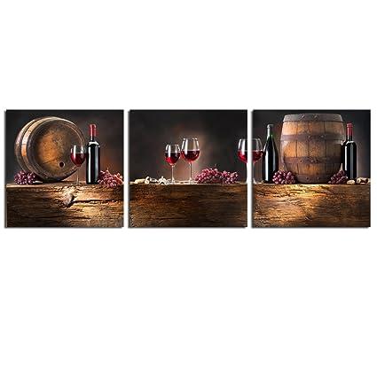 Amazon.com: Live Art Decor - Small Size Canvas Wall Art, Wine ...