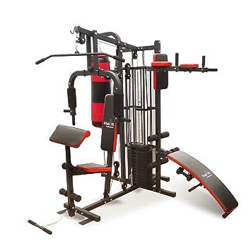 Fitness mehg banco con saco de boxeo + 2 mancuernas + 65 kg pesos: Amazon.es: Deportes y aire libre