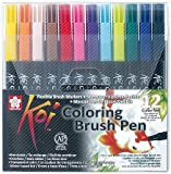 Sakura Koi Blendable Brush Pen Colouring Set of 12 by Sakura