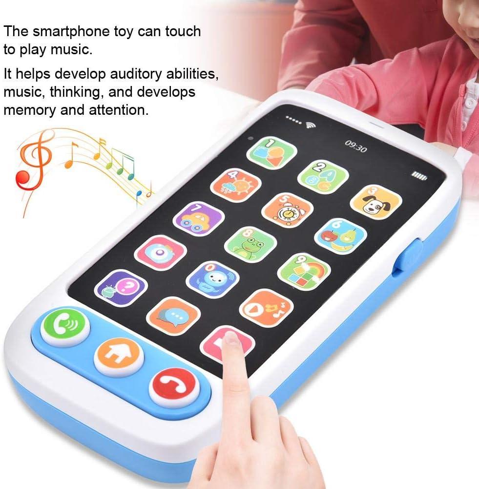 Amazon.es: Zerodis Emulación Juguete de Teléfono móvil, Educación temprana Aprender inglés Multifuncional jugeute Telefono Musical para niños(Blue)