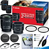 Canon Portrait and Travel Two Lens Kit with 50mm f/1.8 and 10-18mm Lenses - Deal-Expo Accessories Bundle