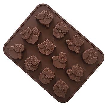 YOKIRIN Molde Silicona Reposteria Estilo de Búhos Moldes para Chocolates Caramelo Hogar Herramienta-Distribución al azar de color: Amazon.es: Hogar