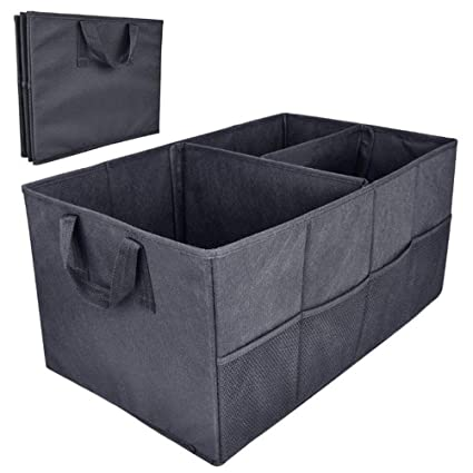 MQYH@ Car Boot Foldable Trunk Storage Organiser Tidy Storage Box Basket  Shopping Bag Tool Organiser
