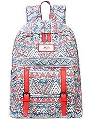 Mygreen Fashion Laptop Backpack School Bookbags Shoulder Bag Daypack 13 Inch Laptop Red