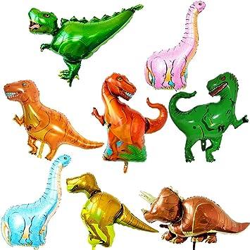 ED-Lumos Globo Dinosaurio Helio Gigante Globos para Fiesta de niños Globo de cumpleaños 8 Piezas Decoración para Fiesta de los niños Modelo Dinosaurio