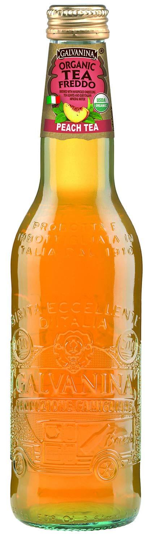 Galvanina - Peach Tea - Organic Tea Freddo - 12 fl oz (12 Glass Bottles) by Galvanina (Image #1)