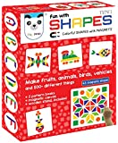 New Fun Magnetic Shapes Type 1 (44 colorful magnetic shapes) (200 designs + magnetic board + display stand included *)