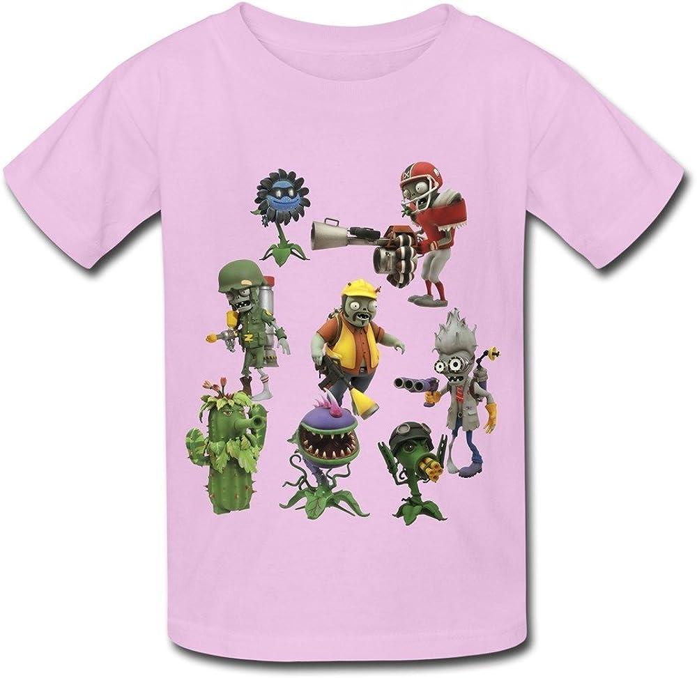 Kazzar Kid's Plants Vs Zombies Garden Warfare Round Collar T Shirt