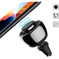 2 in 1 Magnetic Phone Holder Car Air Freshener Phone Air Vent Mount - 360 Rotation with 2 Pack Solid Perfume Car Diffuser Fragrance, Suitable for iPhone, Samsung and Other Mobile Phones