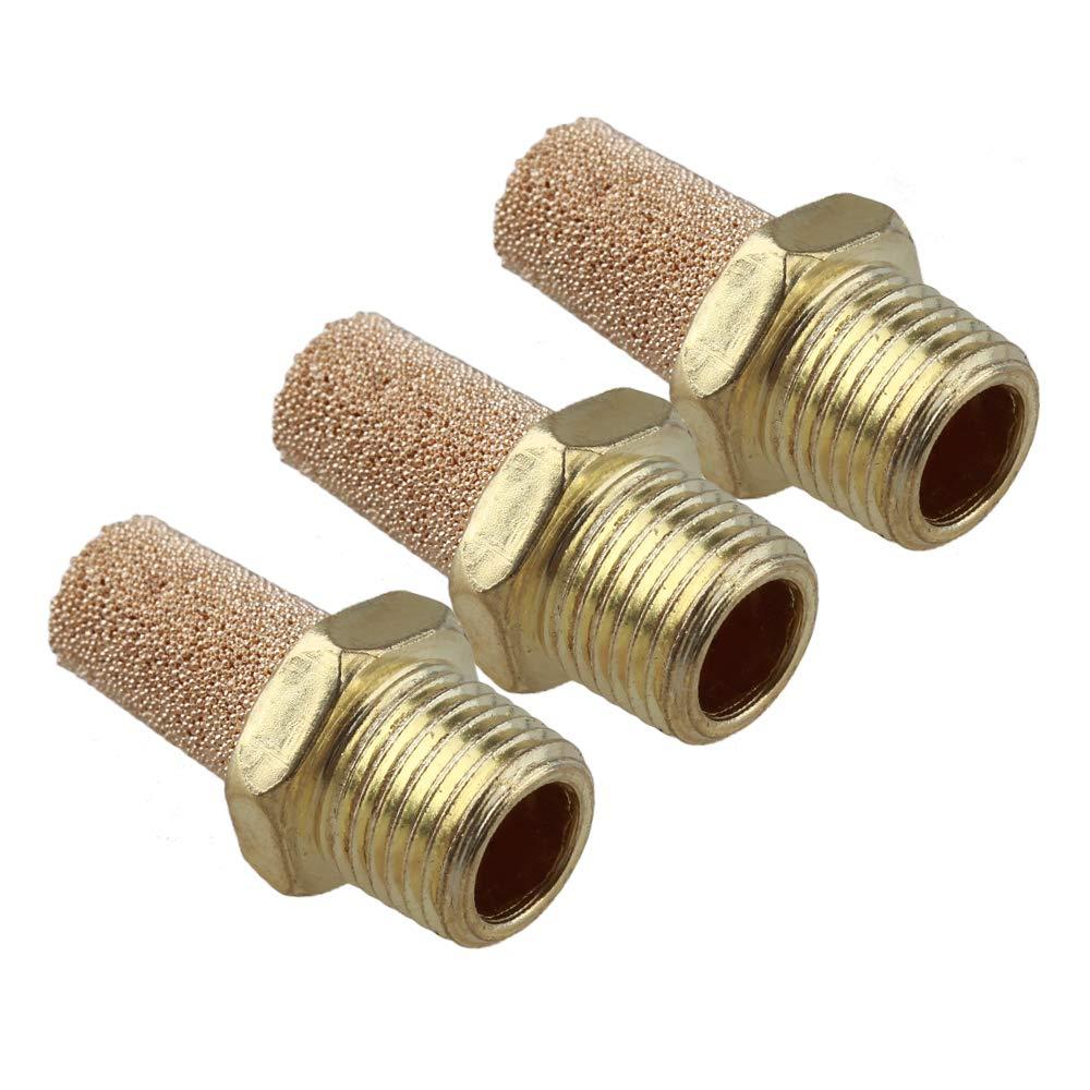 10 Pcs Pneumatic 1//8 inches BSPT Thread Absorb Noise Exhaust Silencer Muffler8