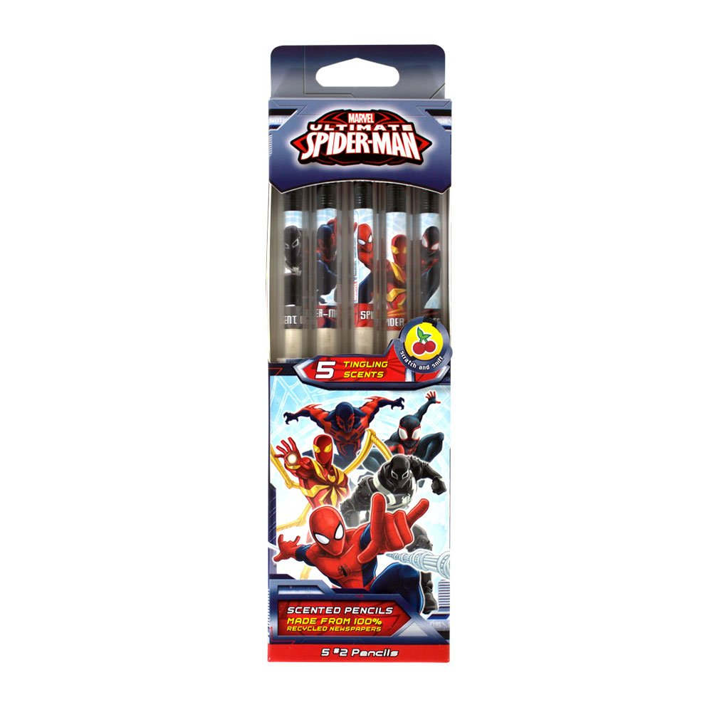 Marvel Spider-Man Smencils 5-Pack of HB #2 Scented Pencils