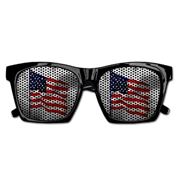 ecdfc35927ab Amazon.com: Elephant AN Themed Novelty Veterans Day American Flag  Decoration Visual Mesh Sunglasses Fun Props Party Favors Gift Unisex: Toys  & Games