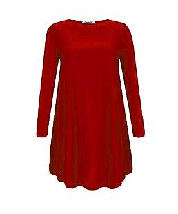GUBA® - Robe - Femme - rouge - UK S/M 36-38