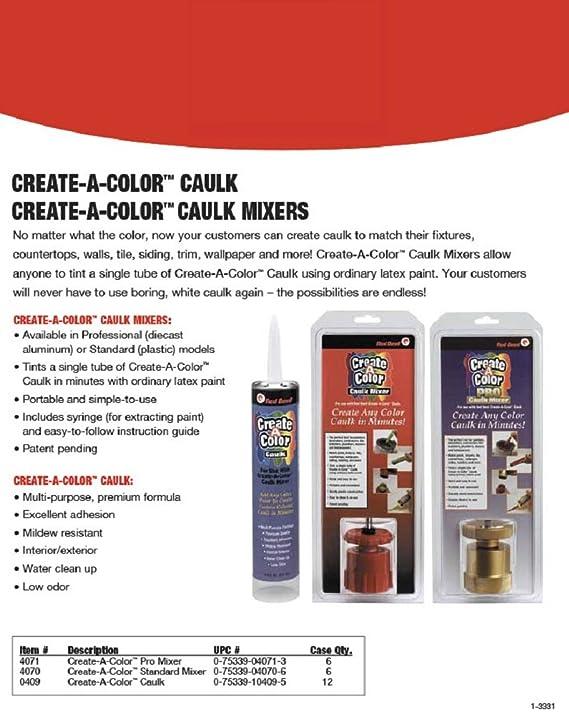 Red Devil CreateAColor Plastic Standard Caulk Mixer Hand - Caulk in a can