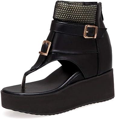 Women Sandals Buckle Zip Shoes Unique