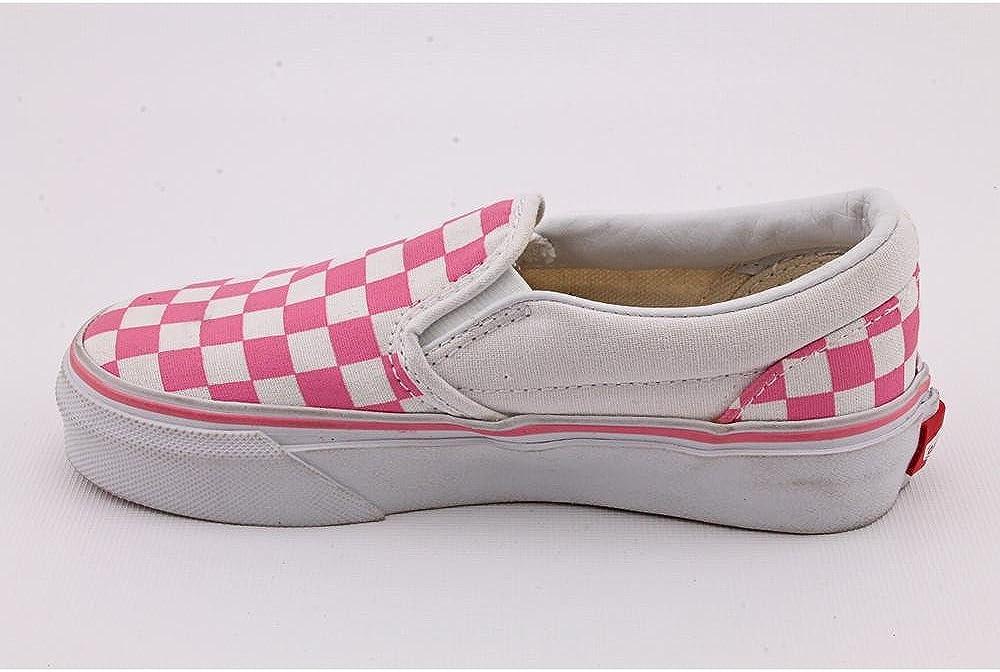 Vans Kids Classic Slip-on, Baskets Mode Mixte Bébé Rose Checkerboard Aurora Pink True White