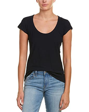 850a4b587 Amazon.com: James Perse Women's Scoop Neck Tee Shirt: Clothing