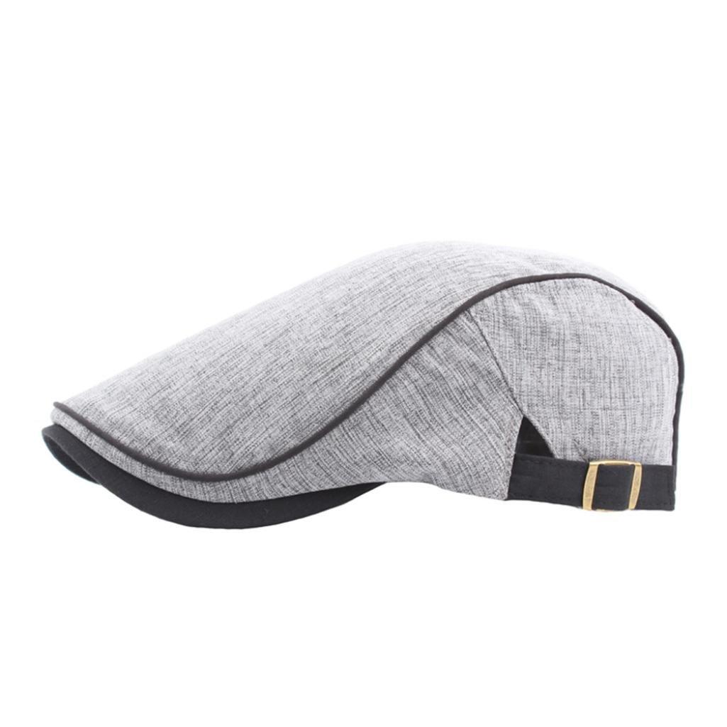 Vertily Adult Classic Newsboy Adjustable Berets Cap Travel Low Profile Dad Hat BBAD-GKEX