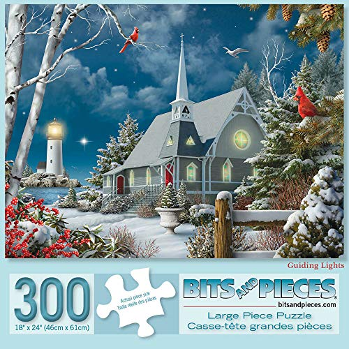 Bits and Pieces - Guiding Lights 300 Piece Jigsaw Puzzles for Adults - Each Puzzle Measures 18