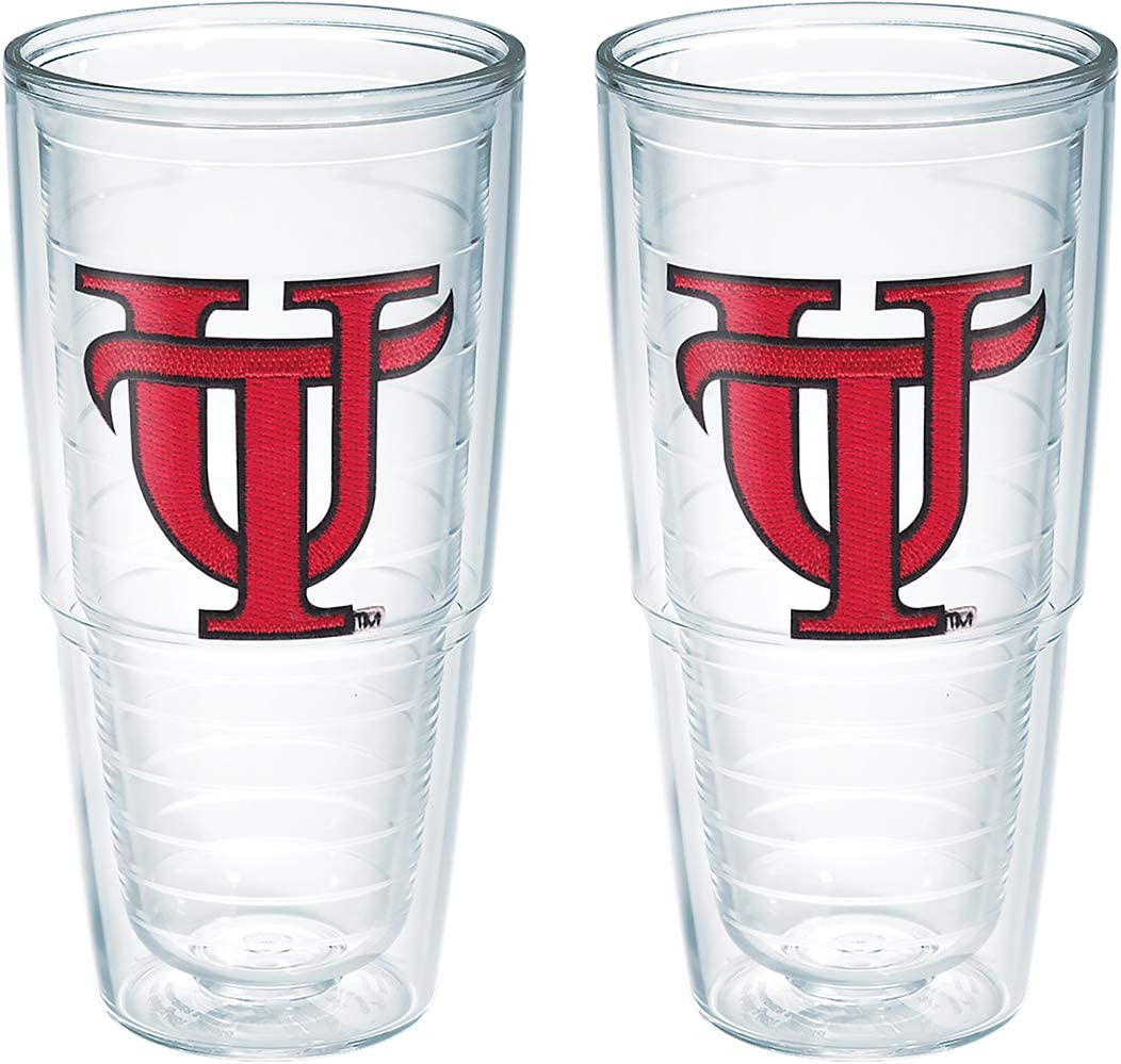 Set of 2 Tervis Tennessee University Smokey Emblem Tumbler 24 oz Clear