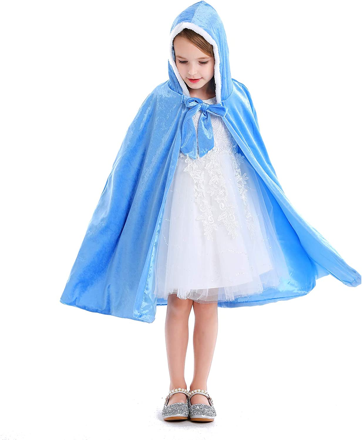 Latassa Halloween Cape Cloak for Kids Girls Boys with Witch Hat Halloween Vampire Cape Dress Up Costumes Cosplay Cape with Hat
