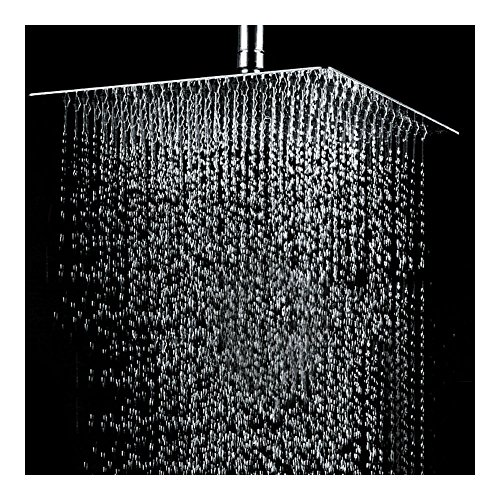 20'' Square Stainless Steel Rain Shower Head Rainfall Bathroom Top Sprayer New by Unknown
