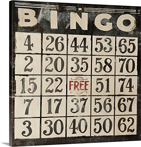 Clayton Rabo Premium Thick-Wrap Canvas Wall Art Print entitled Bingo 24''x24'' by Canvas on Demand