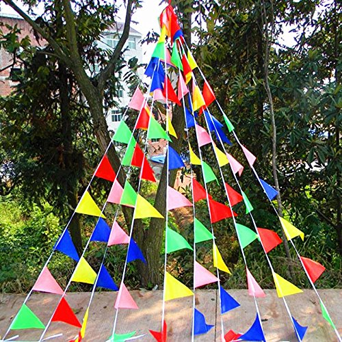 29 Ft Triangular Flag, Pennant Banner Flags for Grand Opening Party Thanksgiving Day Christmas Present,150 PCS (Grand Opening Pennants)